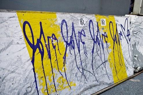 Love Me graffiti found in SoHo, NYC