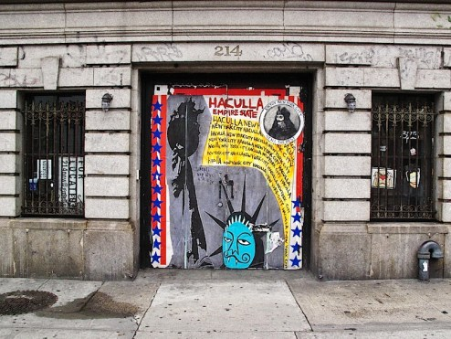 haculla empire state street art found in SoHO, NYC
