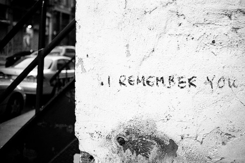 i remember you graffiti found on a wall in SoHo, NYC