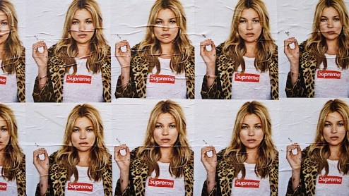 kate moss posters for supreme found in nyc