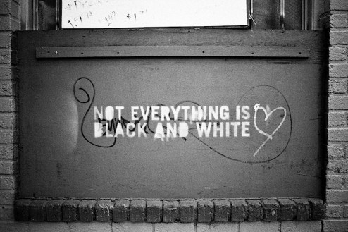 not everything is black and white graffiti found in NYC
