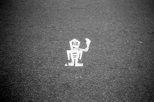 stikman street art found in nyc