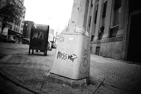miss me graffiti found in nyc