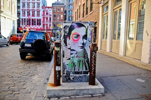 street art by dain in SoHo, NYC