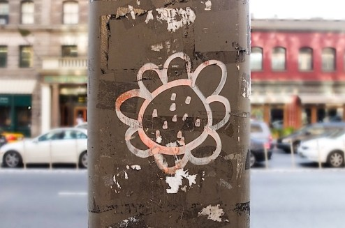 graffiti flower found in SoHo, NYC