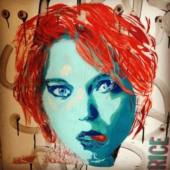 Resultado de imagen de Surrealist stencil portraits – By RICE