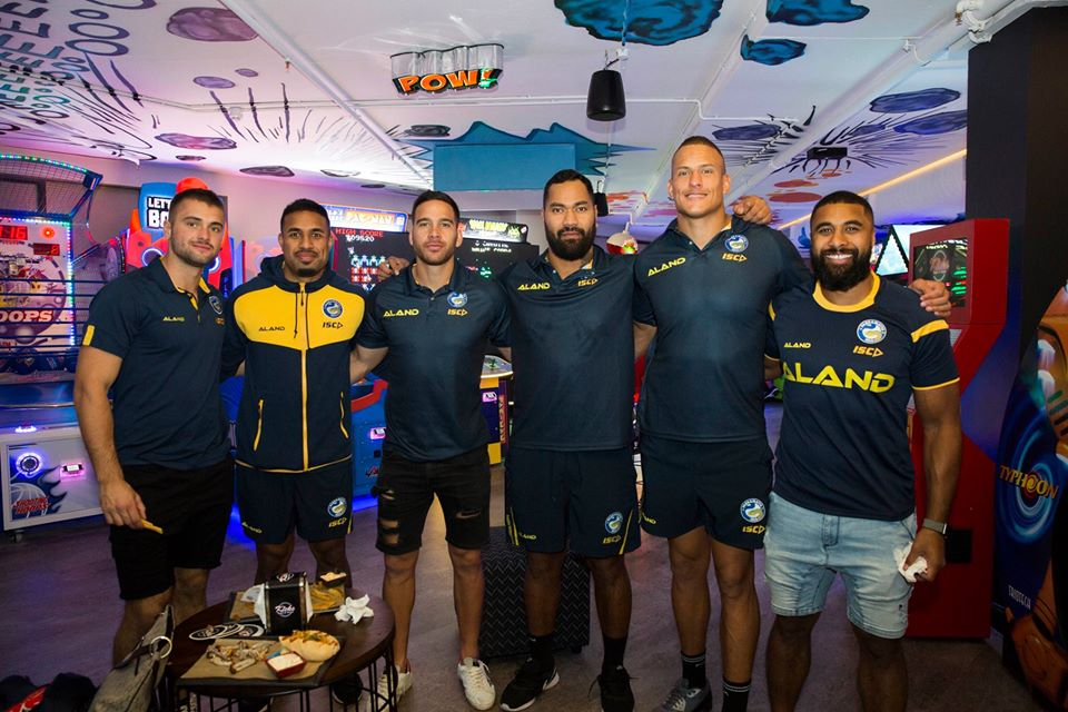 Eels Players at opening night