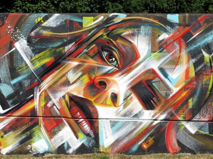 Street Art by Steve Locatelli in Ghent, Belgium