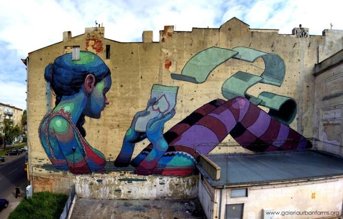 By ARYZ – Galeria Urban Forms in Lodz, Poland