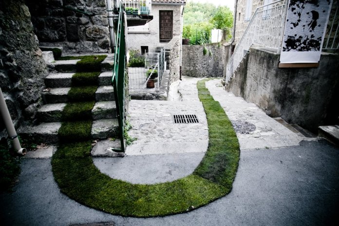 The Green Carpet! In Jaujac, France