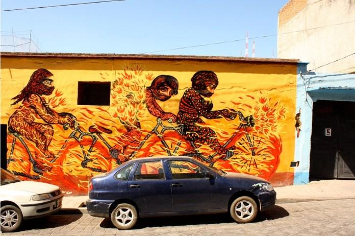 Street Art by Bastardilla in Oaxaca, Mexico