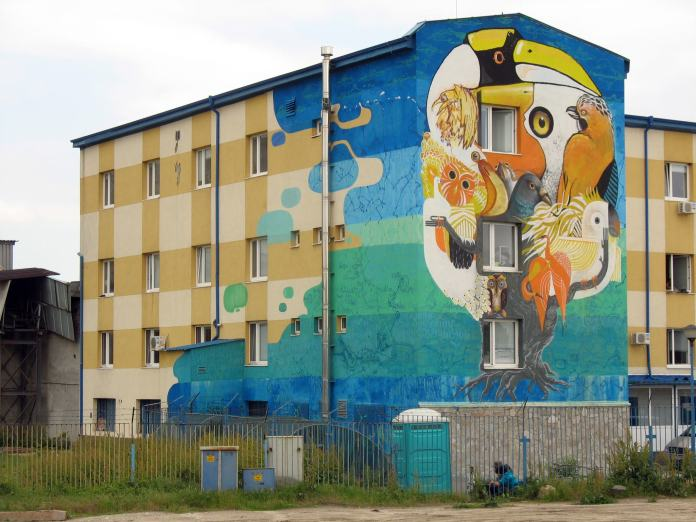 Street Art on a social and youth center – In Sofia, Bulgaria