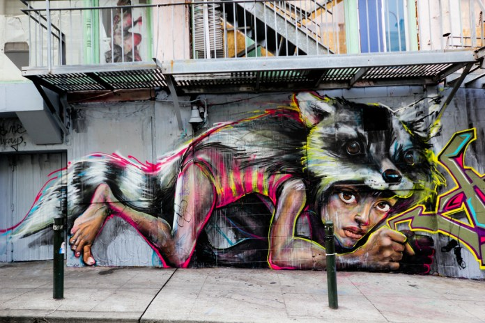 By Herakut in San Francisco, California, USA