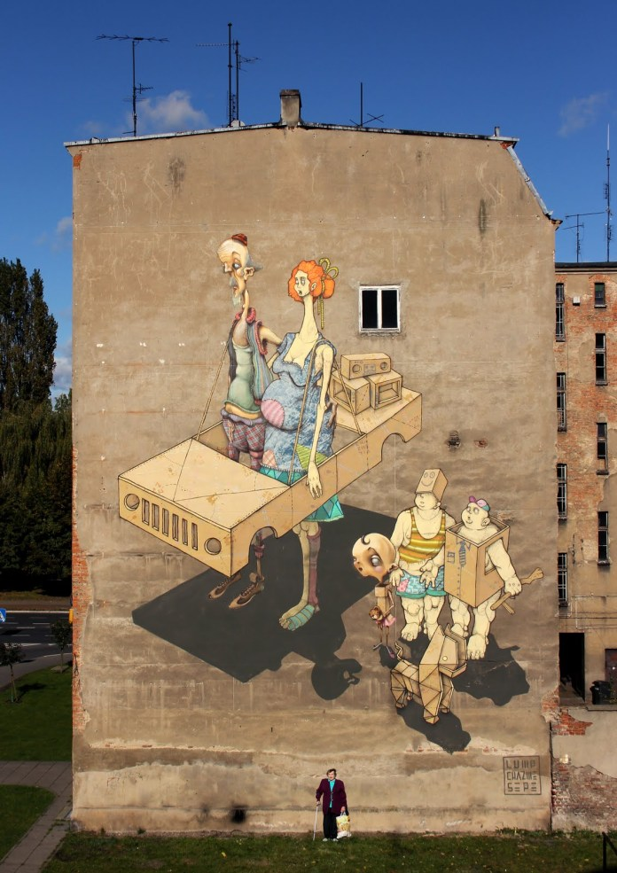 Street Art by Sepe, Lump and Chazme718 in Szczecin, Poland