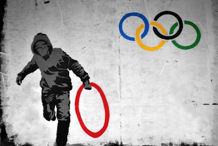 Street Art vs. Olympics 2012 in Stokes Croft, Bristol, England