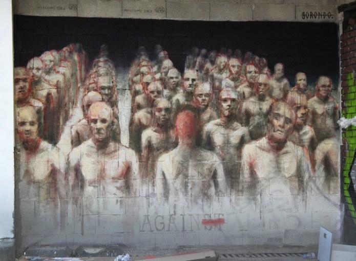 Street Art by Borondo in Paris, France