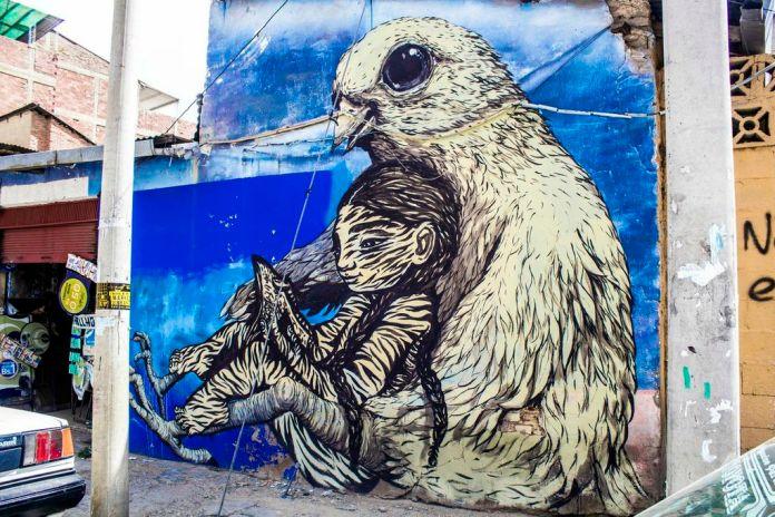 Street Art by Bastardilla and Erica il Cane at BAU13 2