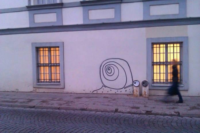 Street Art Snail