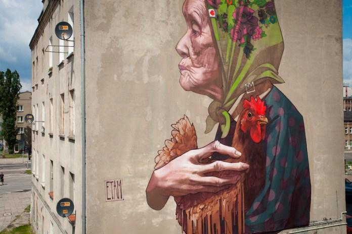 Street Art by ETAM CRU in Lodz, Poland 3