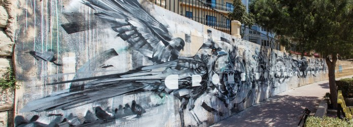 By Steve Locatelli and Smates at the Sliema Street Art Festival. Photo by Asperholm Productions in Sliema, Malta 1