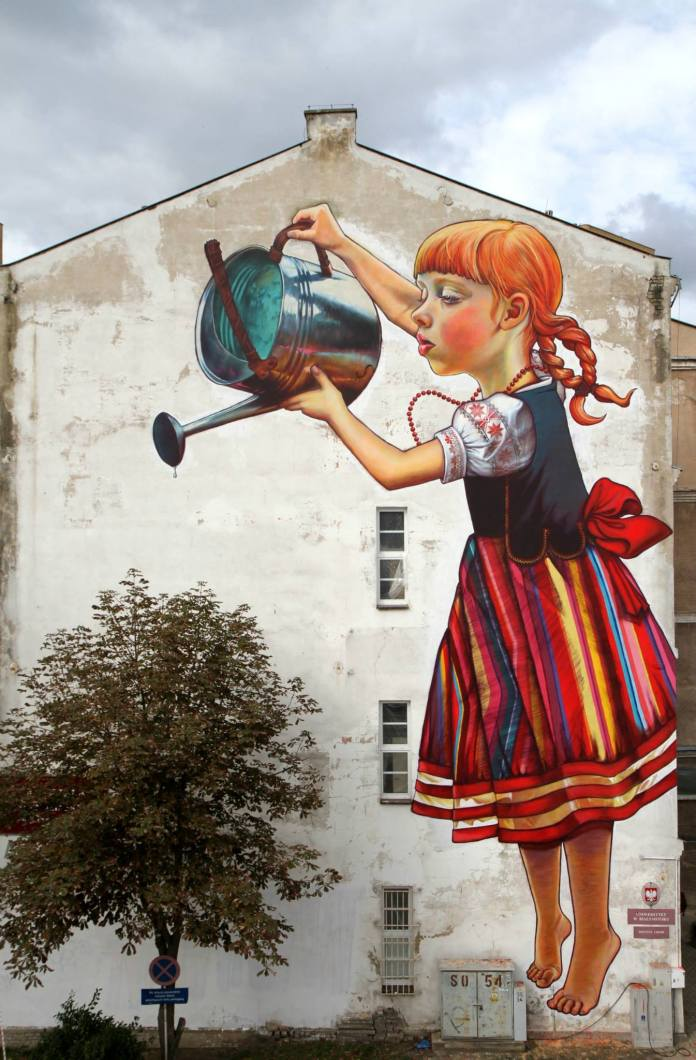 Mural by Natalii Rak at Folk on the Street in Białymstoku, Poland 1