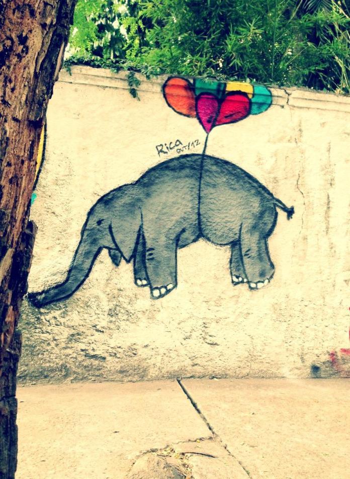 Flying elephant – By Rica in São Paulo, Brazil