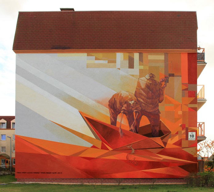 Mural by Pener and Sepe in Fordon, Vehicles, Bydgoszcz, Poland 1