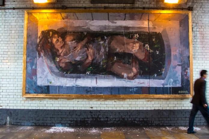 Street Art by Borondo in London, UK 466