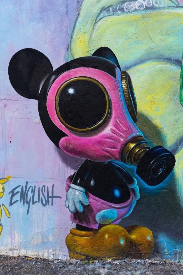 Street Art by Ron English at Quadraro in Rome, Italy 2
