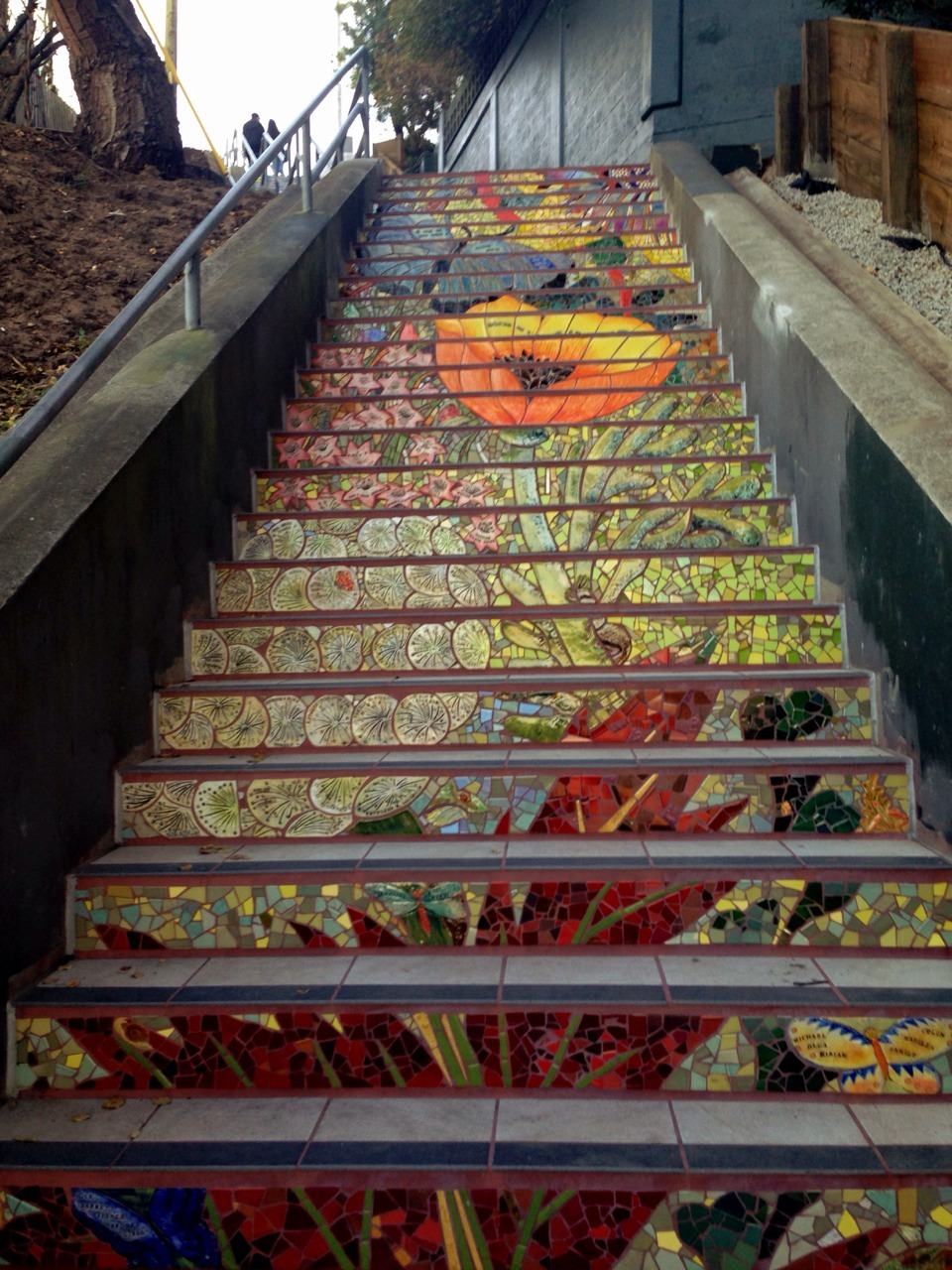 Mosaic Staircase in Inner Sunset, San Francisco, USA 2