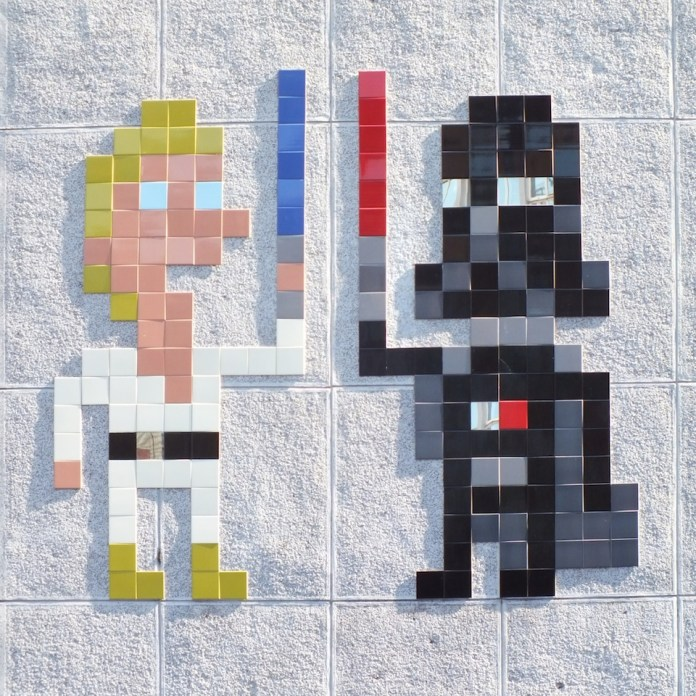 Star Wars street art by Invader in London, England 2