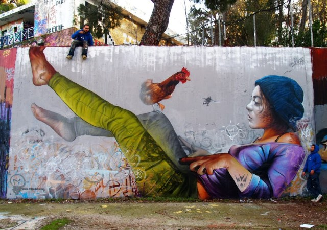 Street Art by Pichi and Avo in Athens, Greece