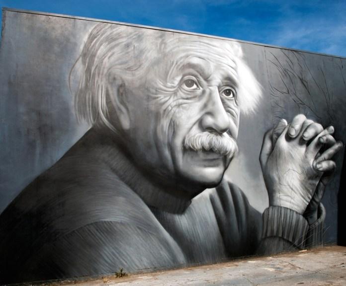 Graffiti by OD in Tauranga, New Zealand - Albert Einstein