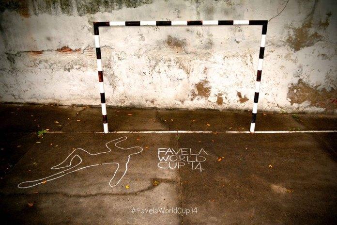 Street Art FIFA World Cup in Rio de Janeiro, Brazil, - #FavelaWorldCup14