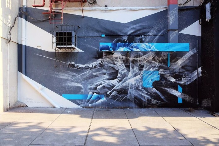 Fencer in motion – By Li-Hill in Jersey City, USA