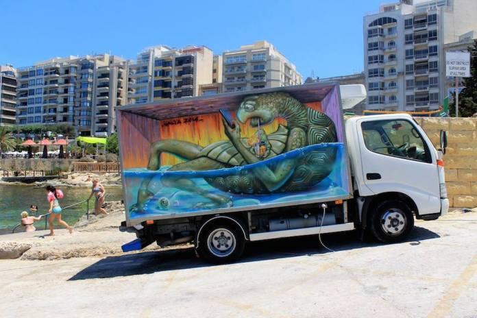 By Wild Drawing – In Malta Sliema Street Art Festival