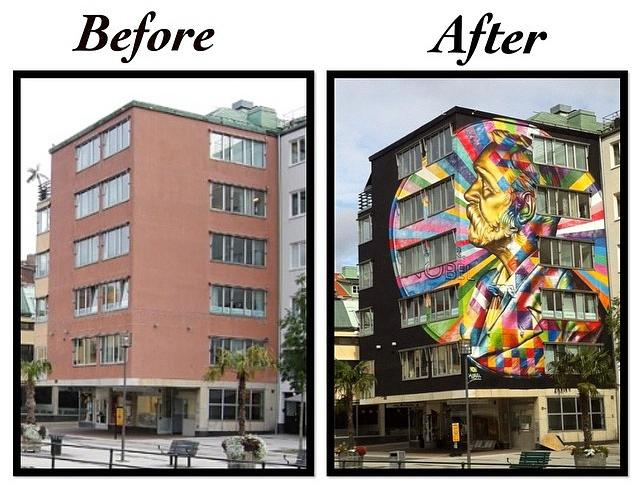 By Eduardo Kobra – In Borås, Sweden
