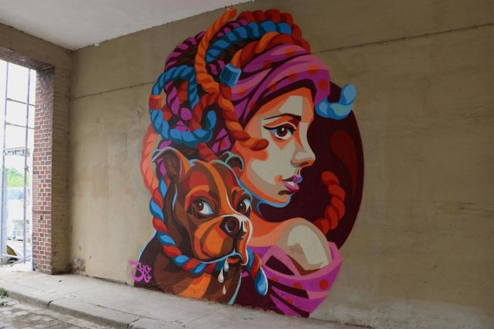 Street Art by Yu-Baba in Halle, Saxony-Anhalt, Germany at All You Can Paint Festival
