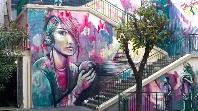 Street Art by Alice Pasquini in Salerno, Italy 1