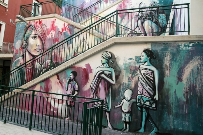Street Art by Alice Pasquini in Salerno, Italy 2
