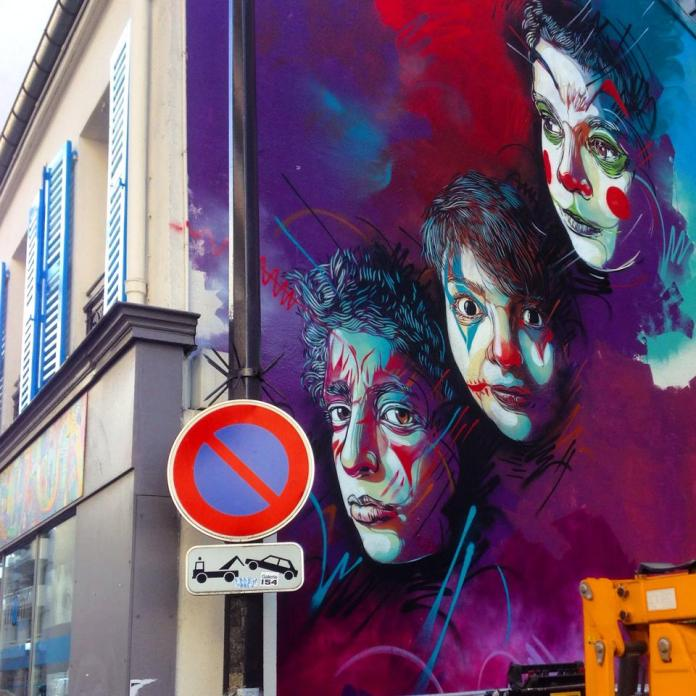 Street Art by C215 at Rue Pelleport- Paris 20ème, France 1