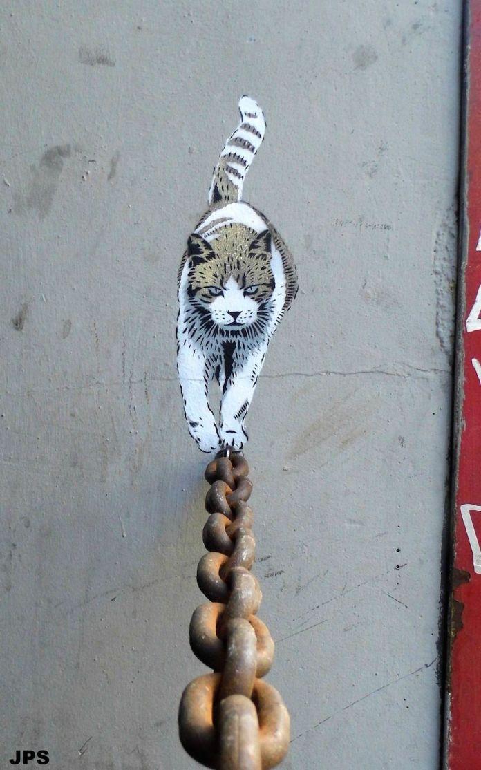 Cat – Street Art by JPS
