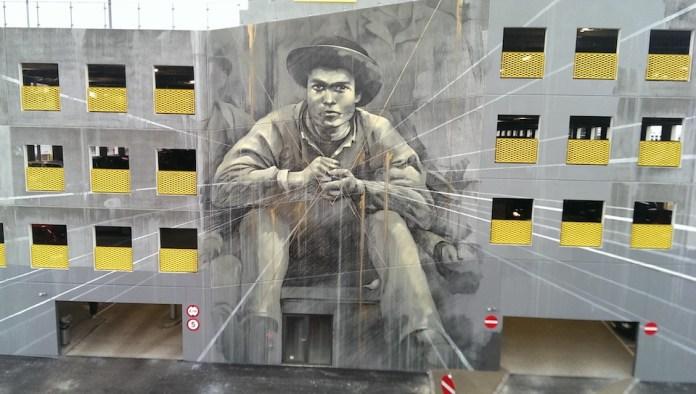 Street Art by Faith47 in Aalborg, Denmark