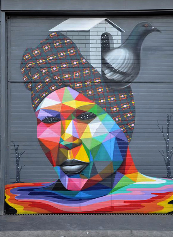 Street Art by Okudart in Santander, Spain