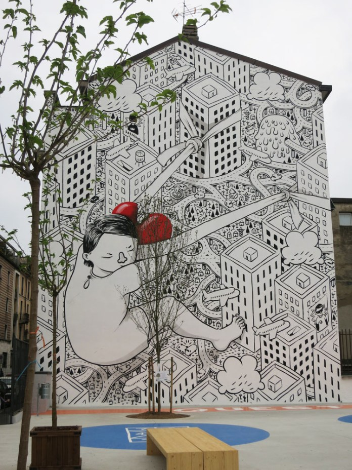 Street Art by Millo – in Milano, Spain