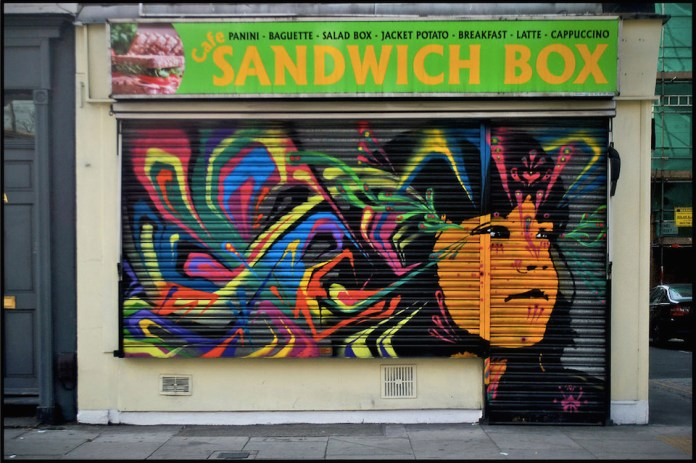 Street Art by Stinkfish in London, England 4