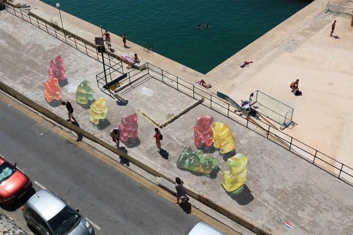 3d Street Art by Leon Keer – At Malta Streetart Festival