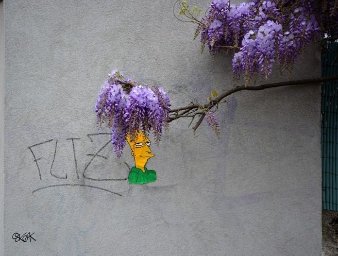 Street Art by Oakoak - Sideshow bob Simpsons 1