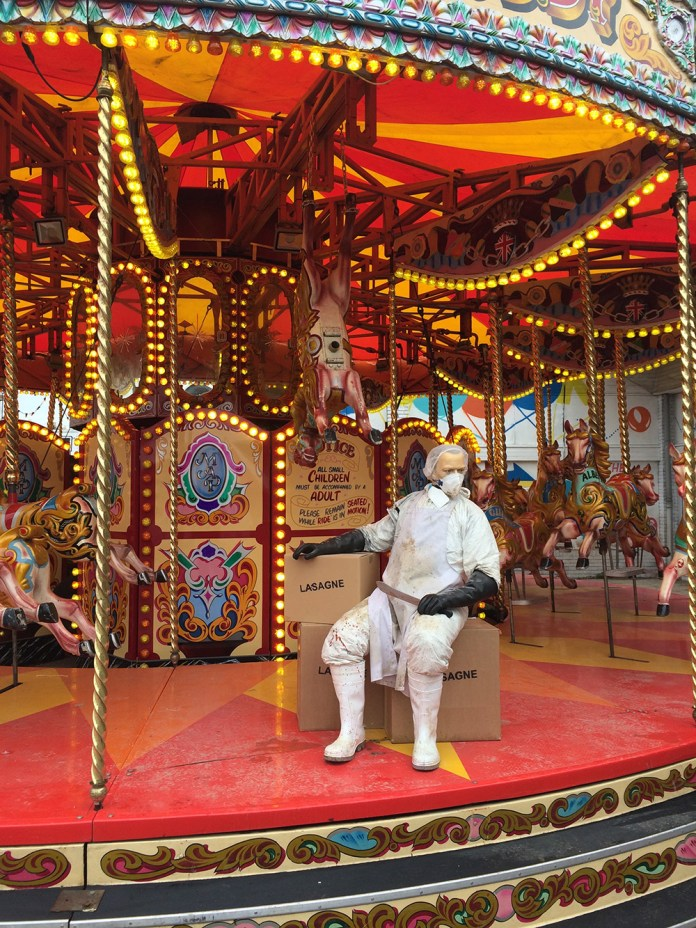 Street Art by Banksy and other artists in London, England - Dismaland 14