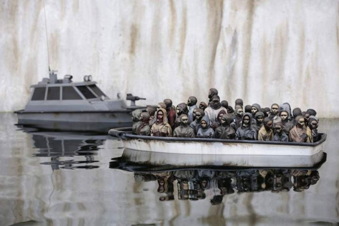 Street Art by Banksy and other artists in London, England - Dismaland 20